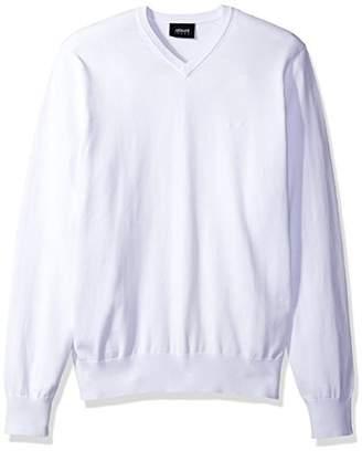 Armani Jeans Men's Regular Fit V-Neck Cotton Sweater