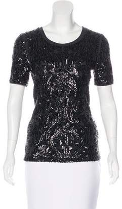 Tory Burch Embellished Short Sleeve Top