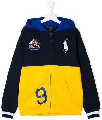 f3c764378 Ralph Lauren Kids contrast logo bomber jacket