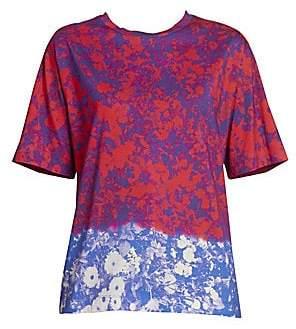 Dries Van Noten Women's Floral Dip-Dyed Tee