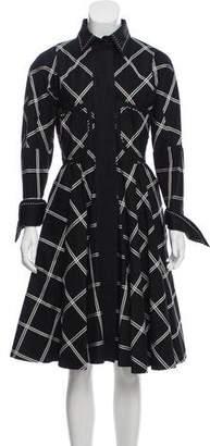 Gianfranco Ferre Patterned Midi Dress w/ Tags