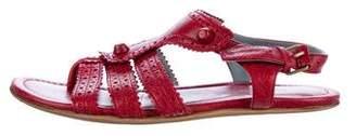 Balenciaga Leather Brogue Sandals