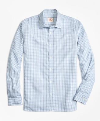 Brooks Brothers Check Nine-to-Nine Cotton Poplin Shirt