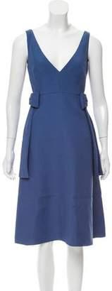 Valentino Sleeveless Silk-Wool Dress