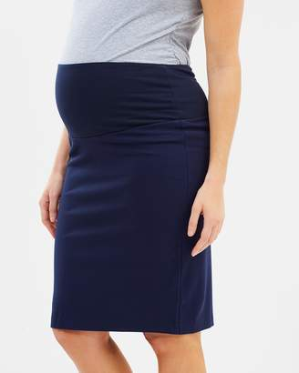 Angel Maternity Maternity Straight Cut Ponti Work Skirt