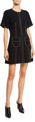 Cinq à Sept Caroline Zip-Front Pocket Dress