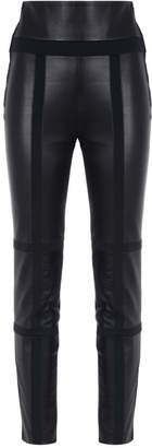Gloria Coelho leather panels skinny trousers