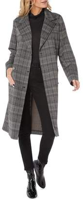 Michael Stars Plaid Ponte Coat