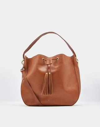 Joules Chesnut Beau Leather Shoulder Bag