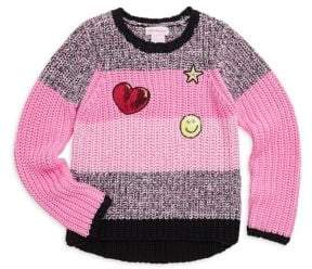 Design History Toddler's& Little Girl's Knitted Hi-Lo Sweater