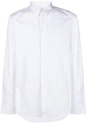 Givenchy pleated bib shirt