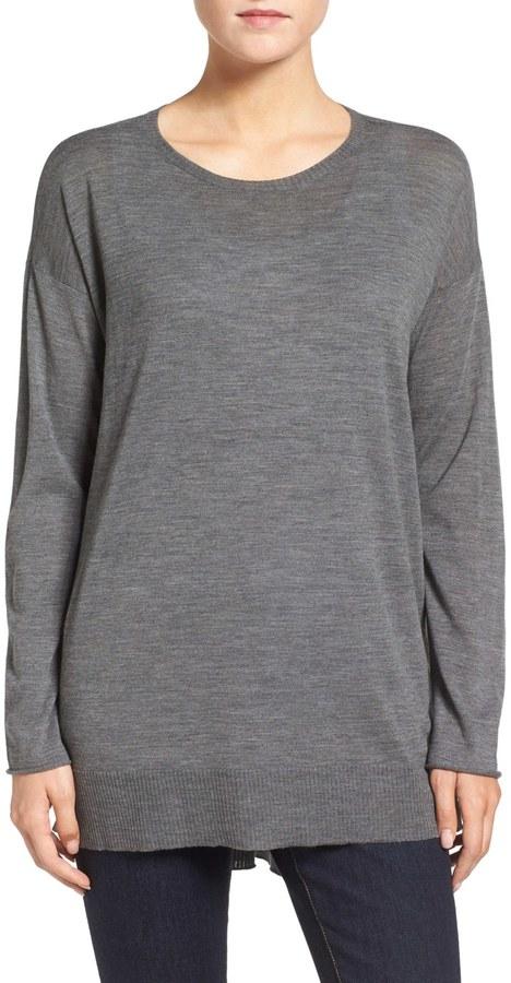 Eileen Fisher Featherweight Merino Wool Sweater 12