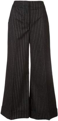 Derek Lam Cropped Wide Leg Trouser with Cuff