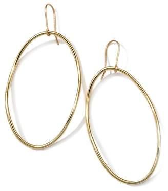 Ippolita 18K Yellow Gold Classico Front Facing Hoop Earrings