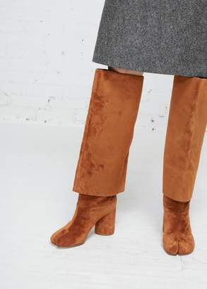 Maison Margiela Leather Double Layer Tabi Knee Boot