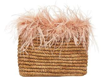 Loeffler Randall Skylar Feather Pouch