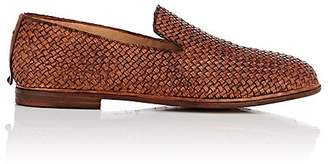 Elia Maurizi MEN'S WOVEN LEATHER VENETIAN LOAFERS
