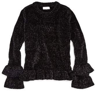 Design History Girls' Bell-Sleeve Chenille Sweater - Big Kid