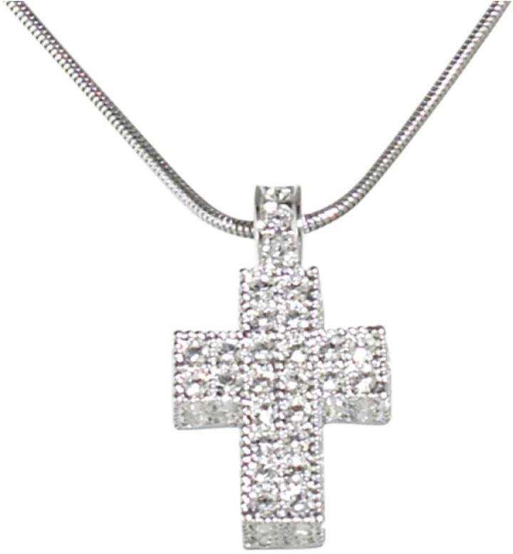 Swarovski Crystal cross pendant necklace