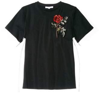 Oscar de la Renta sheer T-shirt