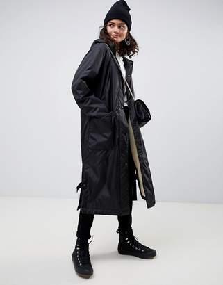 Asos DESIGN maxi fleece lined rainwear