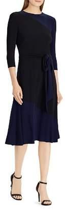 Ralph Lauren Two-Tone Jersey Dress