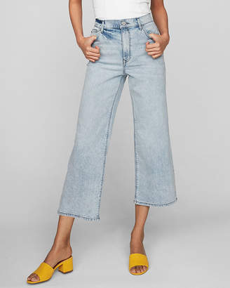 Express Extreme High Waisted Original Cropped Wide Leg Jeans