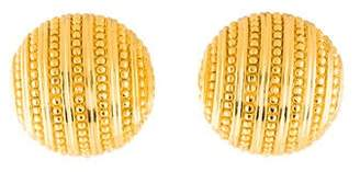 Christian Dior Textured Dome Clip-On Earrings