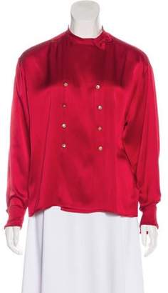 Chanel Silk Blouse red Silk Blouse
