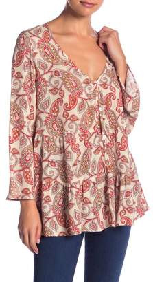 Show Me Your Mumu Marlow Patterned Layered Blouse