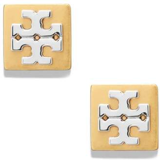 Tory Burch BLOCK-T LOGO STUD EARRING