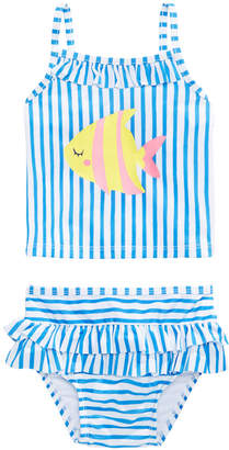 First Impressions 2-Pc. Striped Tankini Swim Suit, Baby Girls, Created for Macy's