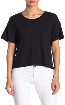 LnA Curved High/Low Crew T-Shirt