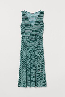 H&M Dress with Tie Belt - Green