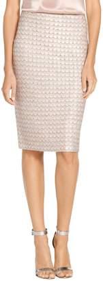 St. John Sequin Scallop Knit Skirt