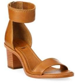 Frye Brielle Leather Block Heel Sandals