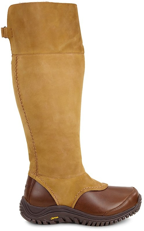 UGGUGG® Miko Leather and Sheepskin Tall Boots