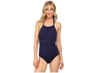 Tommy Bahama Pearl High-Neck Halter One-Piece Swimsuit
