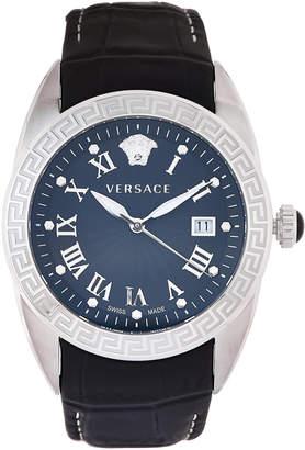 Versace VFE120015 Silver-Tone & Black V-Sport II Watch