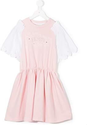 Fendi scalloped T-shirt dress