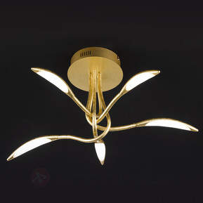 Dimmbare LED-Deckenleuchte Hampton in Gold