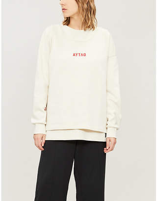Puma X OUTLAW MOSCOW Text-print cotton-blend sweatshirt