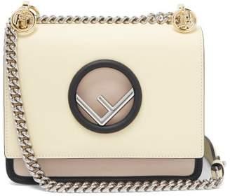 Fendi Kan I Mini Leather Cross Body Bag - Womens - Light Yellow