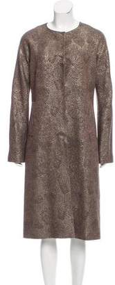 Lela Rose Wool Brocade Coat