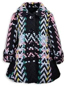 Widgeon Little Girl's & Girl's Knit Wool-Blend Car Coat