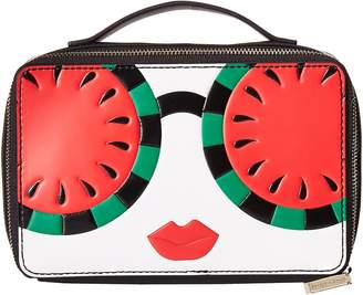 Alice + Olivia Ally Stace Face Watermelon Zip Cosmetic Case