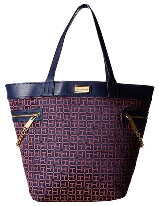 Tommy Hilfiger Carrie - Monogram Jacquard Tote $128 thestylecure.com