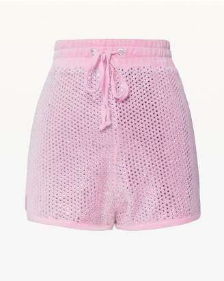Juicy Couture Allover Swarovski Embellished Velour Short