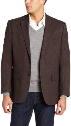 Jones New York Men's 2 Button Side Vent Corey Donegal Sport Coat