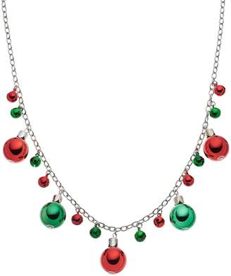 Christmas Ornament & Jingle Bell Long Necklace